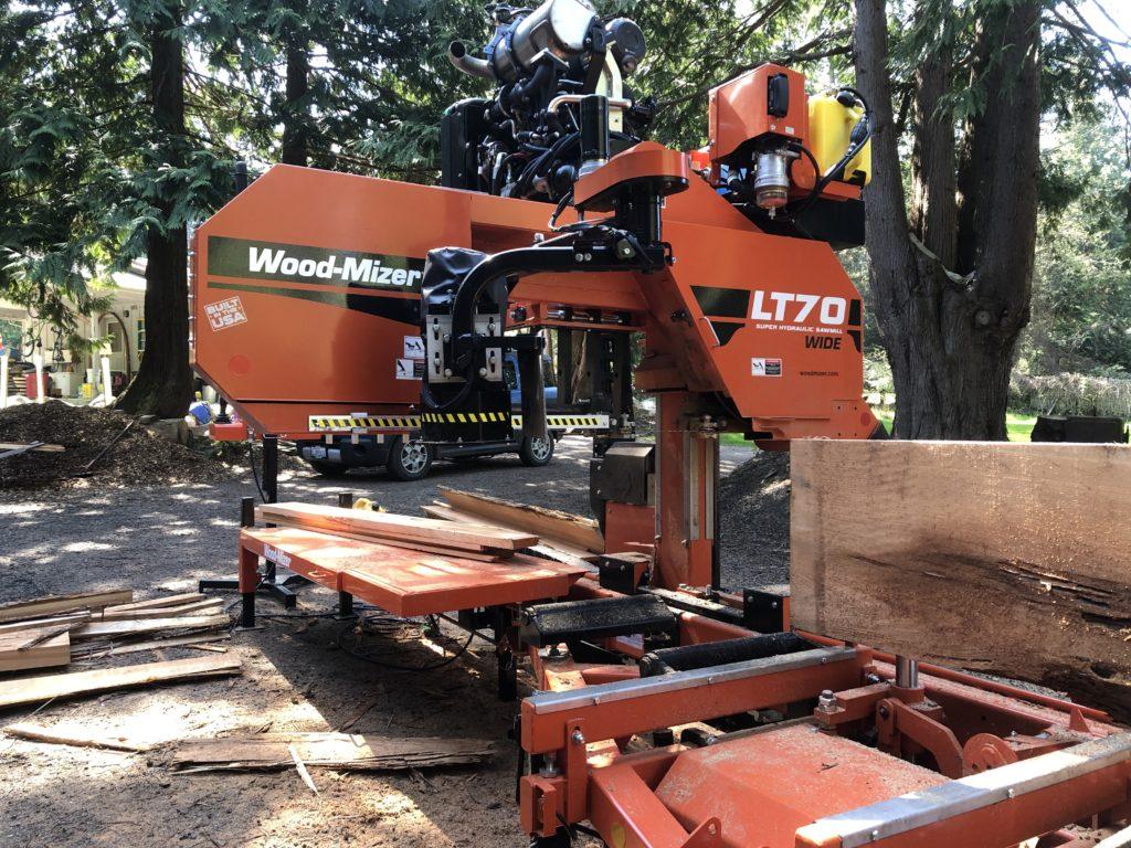 Photo of a Wood-Mizer portable sawmill